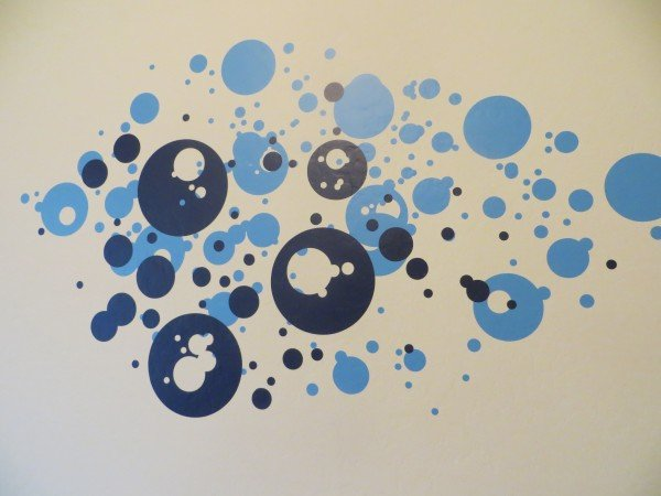 polka dot splatter at cozywallart.com