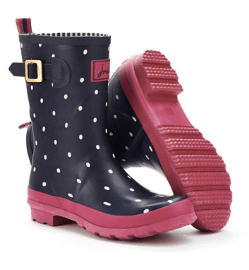 polka dot wellies