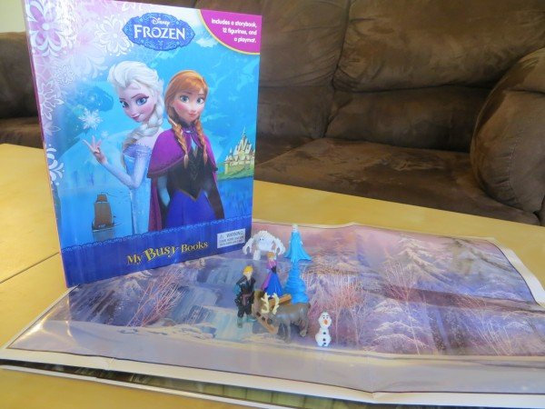 FROZEN busy book from Walmart, #FrozenFun, #shop #cbias