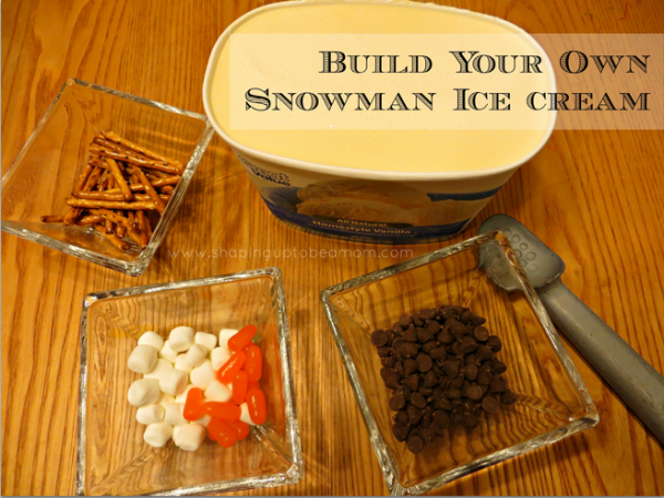 Build-Your-Own Snowman Ice Cream, #FrozenFun, #shop #cbias