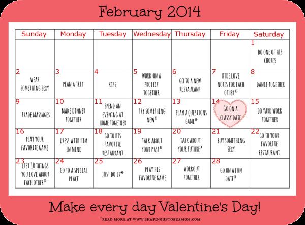 Valentine Calendar Ideas : Date ideas to make every day valentine s ad
