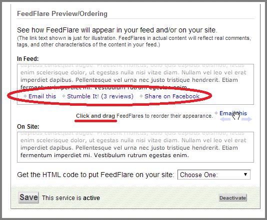 Feedburner Tips & Tricks: FeedFlare
