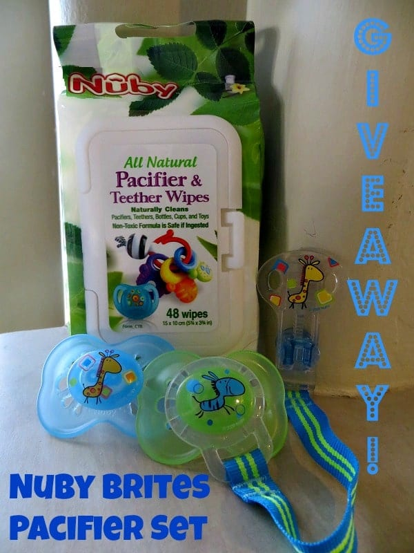 Nuby pacifier set giveaway