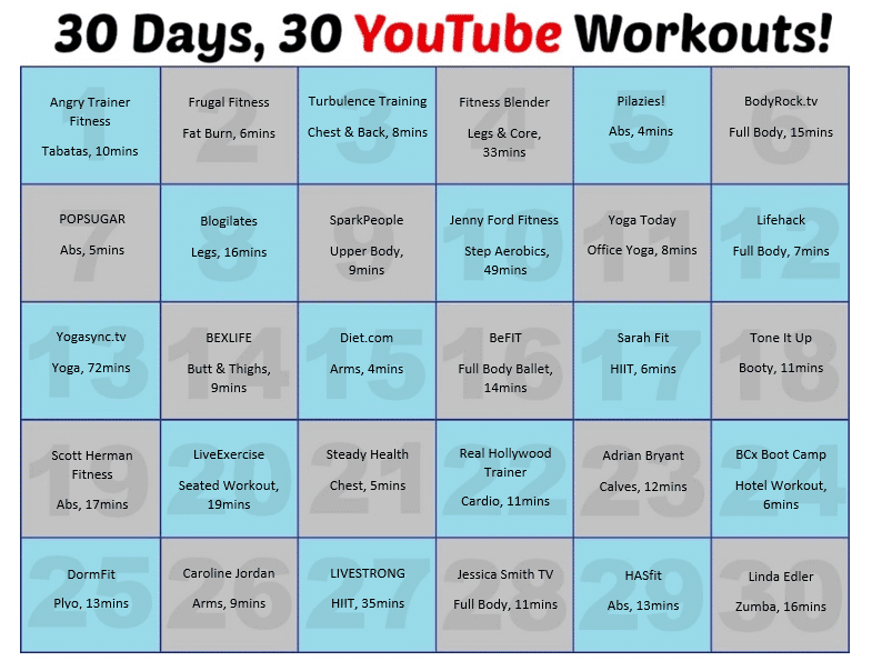 Fitness Blender Workout Plan Pdf Routines 30 Days You Workouts Shaping Up To Be A Mom