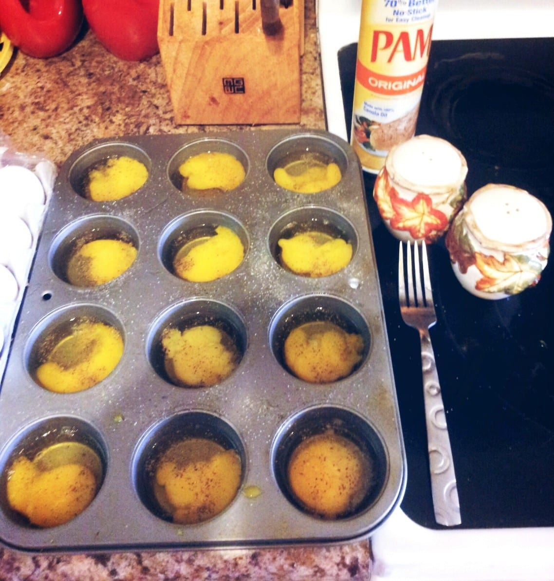 Cook eggs in a muffin tin- they'll fit perfectly on these Make Ahead McMuffins!