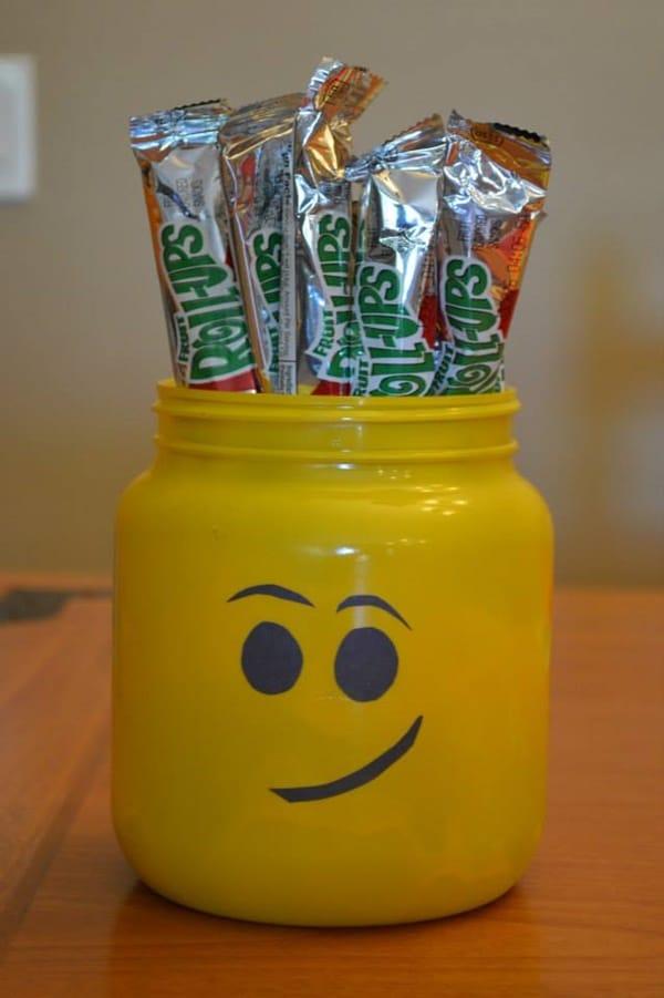 Lego Head Snack Holder