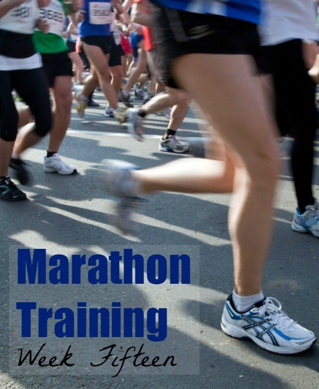 Marathon Training Week 15