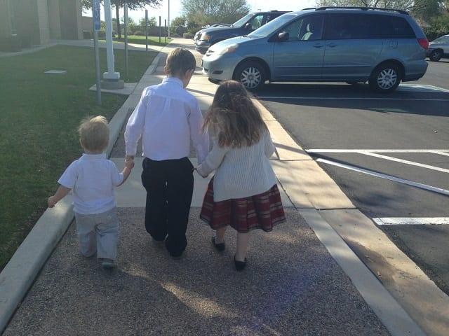 car-and-kids-at-church