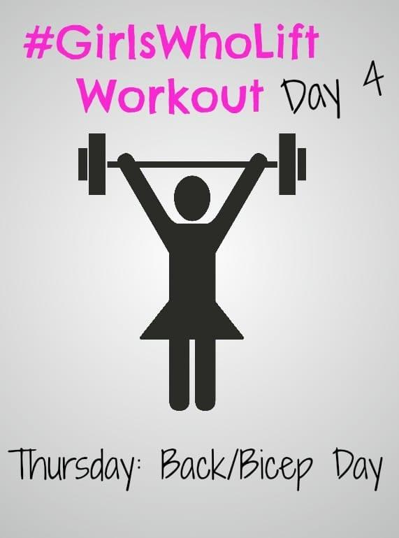 #GirlsWhoLift Workout Day 4