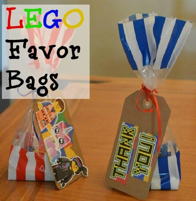 Lego Party Ideas: Lego Favor Bags
