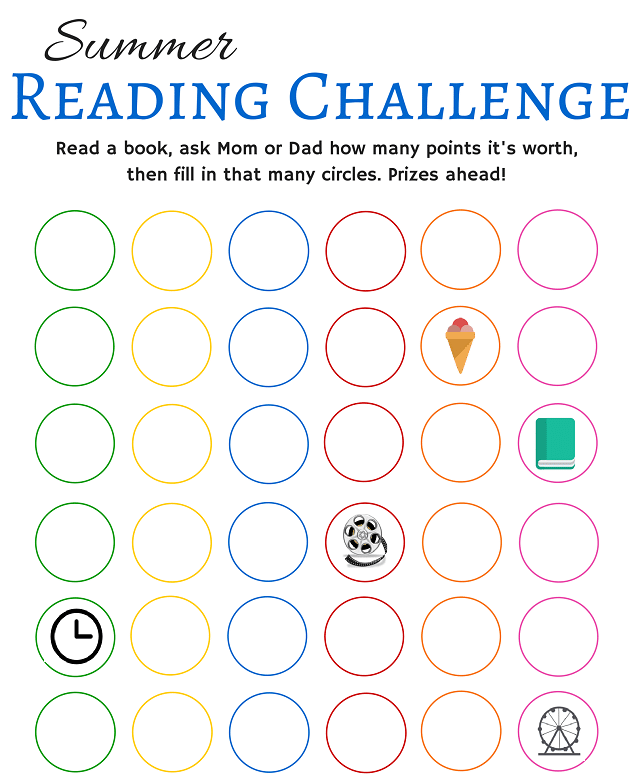 Summer Reading Challenge Printable