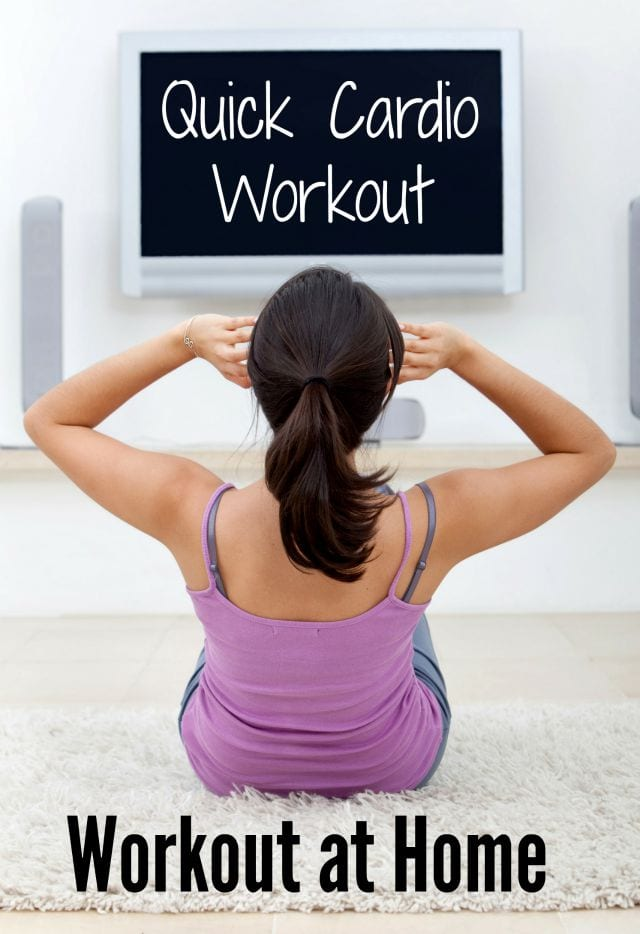 No excuses here- this quick cardio workout requires no equipment and just a bit of time! #workoutathome