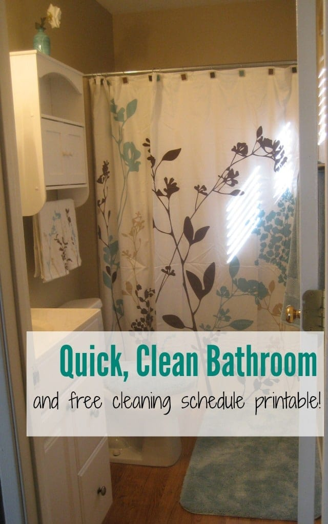 Bathroom Cleaning Tips & Cleaning Schedule Printable