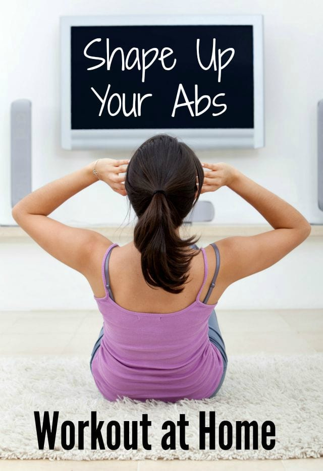Work your core with this simple, at home ab workout. Perfect way to end a cardio or strength training workout, or just to get you going in the morning! #workoutathome