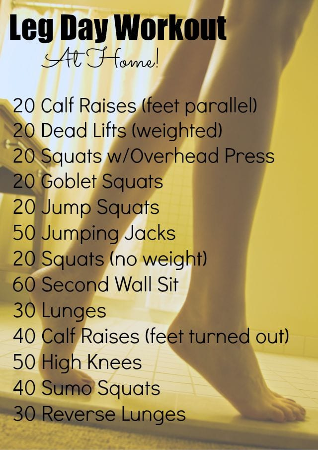 """Great """"leg day"""" workout you can do at home!"""
