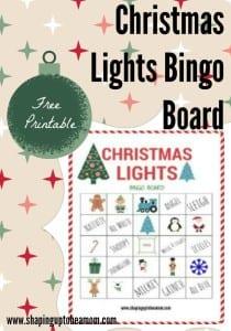 Christmas Lights Bingo Game Printable