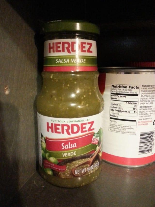 Herdez in the pantry