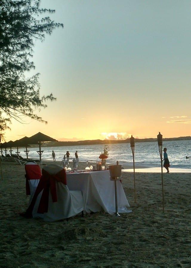 Romantic Candlelight Dinner on the Beach