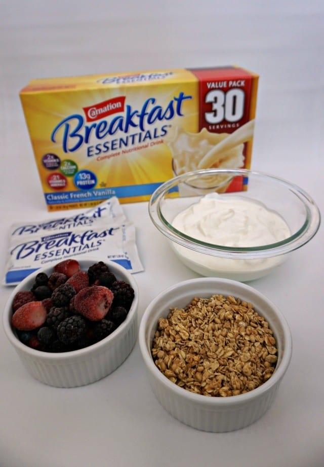 Ingredients for Make-Ahead Parfait