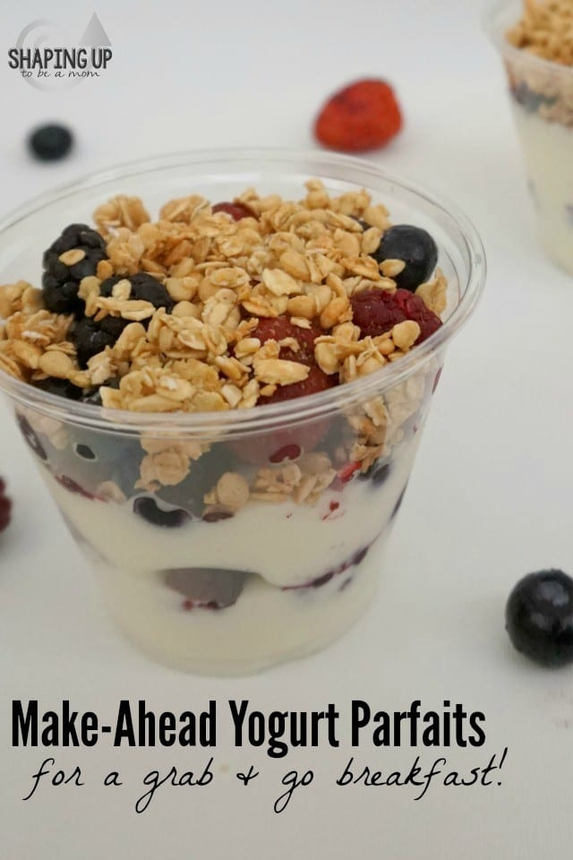 These make-ahead yogurt parfaits are so yummy, and they are ridiculously easy to make! Prep them one or two nights a week, and you'll wake up to a delicious, nutritious breakfast in your fridge, just waiting for you to grab and go! (ad) #CarnationSweepstakes #BetterBreakfast