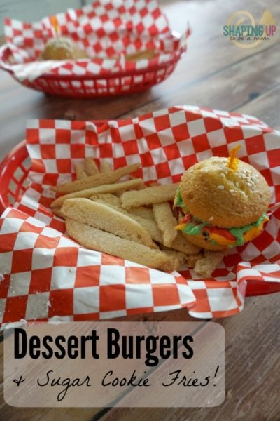 Dessert Burgers and Fries Recipe