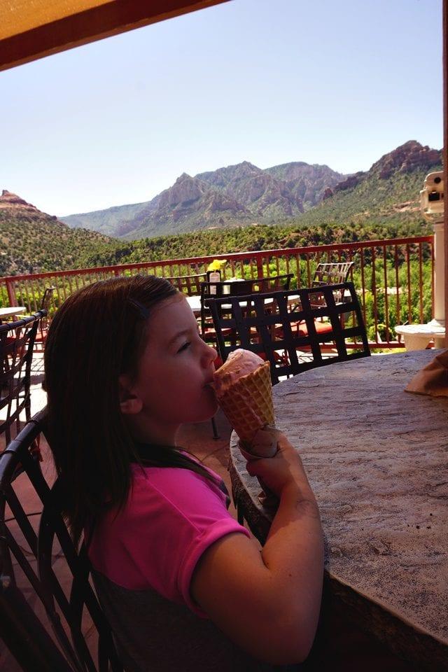 Ice cream at Canyon Breeze
