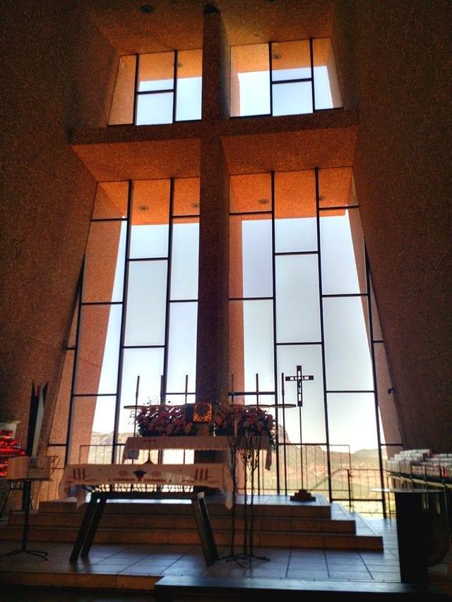 Inside Chapel of the Holy Cross