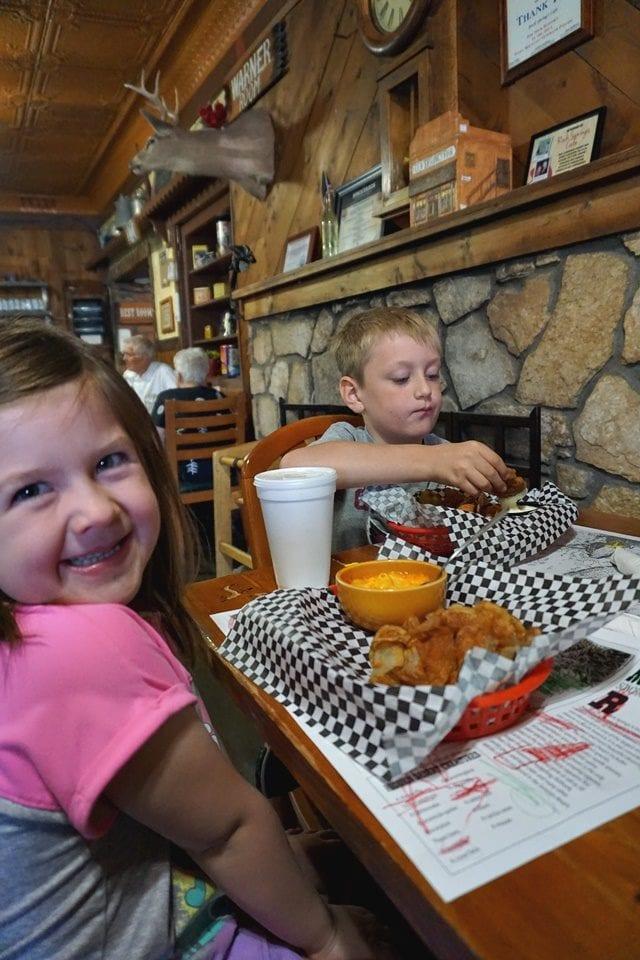 Kids at Rock Springs Cafe