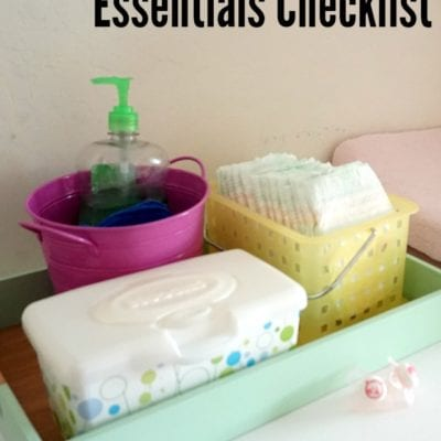New Baby Supplies Checklist