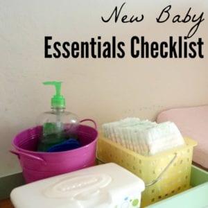 New Baby Supplies Checklist
