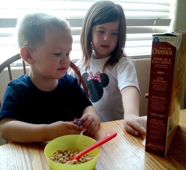 Reading the cereal box