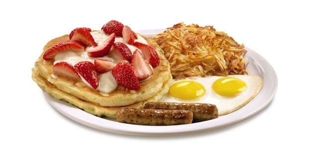 Strawberries and Cream Pancake Breakfast
