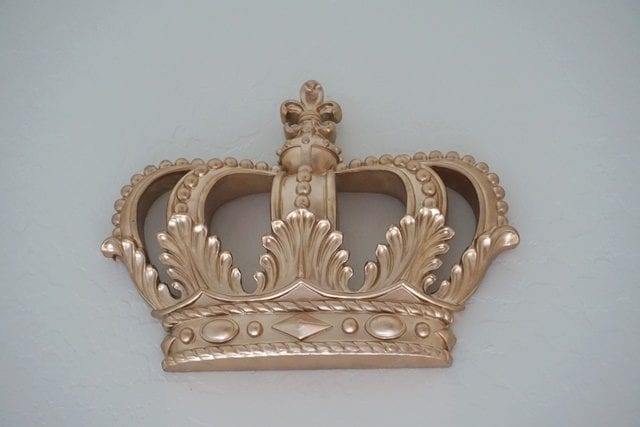 etsy gold crown