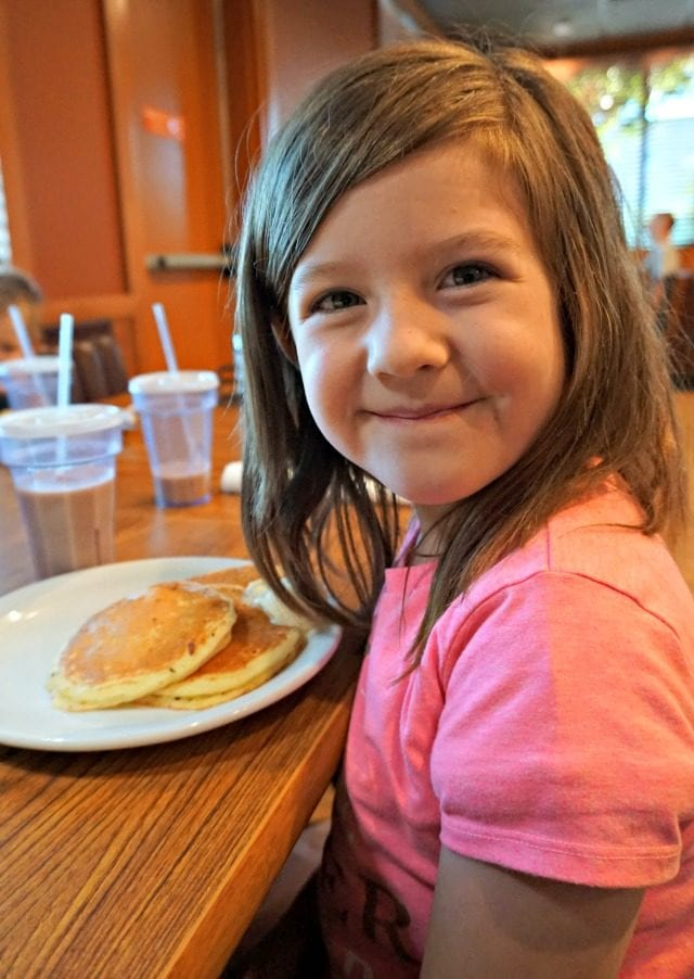 Kids get free pancakes at Denny's for the month of September! And see how you can easily help raise money to help end childhood hunger. (ad)