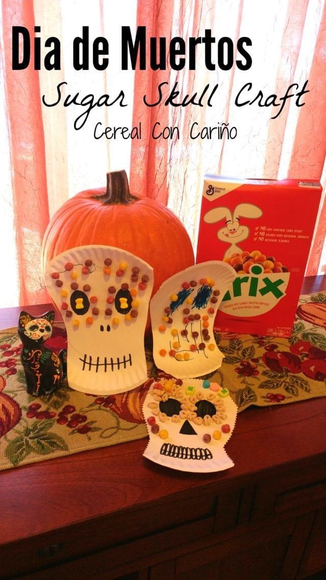 Celebrate Dia De Los Muertos with this cute (and yummy!) Sugar Skull Craft! (ad)