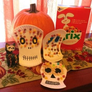 Dia De Los Muertos Sugar Skull Craft with Cereal Con Cariño