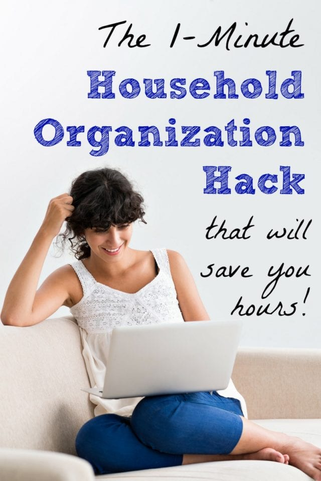 Do this today and save time and stress from now on! This household organization hack only takes a minute, and you'll be so glad you did it!