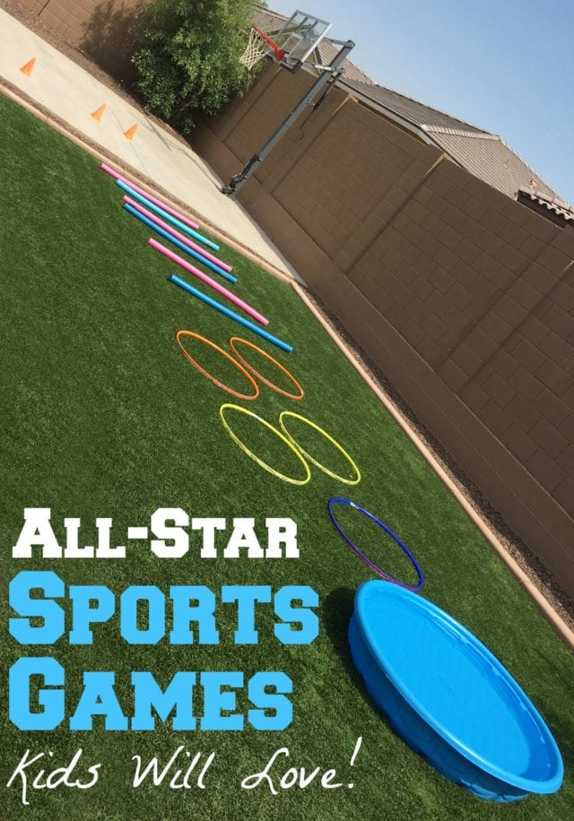 Lots of fun sports-themed sport games kids will love! Have fun while learning teamwork and good sportsmanship. Baseball, Basketball, and Football games and indoor/outdoor activities. Get ready for some fun!